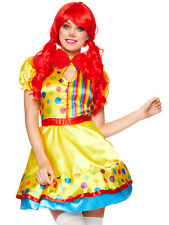 Ladies Clown Costume Adults Circus Fancy Dress Womens Funny Novelty Outfit