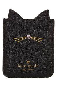 Kate Spade NY 256586 Black Cat Phone Sticker Pocket 2.5x3 Fits Most iPhones