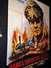 DANS L' ENFER DES SABLES affiche cinema  tanks  guerre 39-45  1968