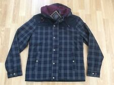 MENS MERC TARTAN CHECK QUILTED PADDED HOODED JACKET STYLE DALEY SIZE M