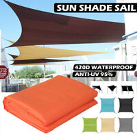 3M*4M Outdoor Garden Sun Shade Sail Anti-UV Waterproof Top Canopy Cover Awning