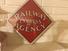New Aluminum 12 x 12  Railway Express Agency Sign