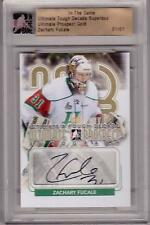 ZACHARY FUCALE 13/14 ITG Ultimate Superbox Rookie Auto Autograph # 1/1 GOLD SP