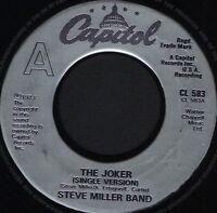 "STEVE MILLER BAND the joker 7"" WS EX/ uk capitol CL 583 noc"