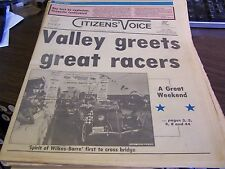 THE CITIZENS VOICE  - 7/5/86 - VALLEY GREATS GREAT RACERS - COMPLETE - NEAR MINT