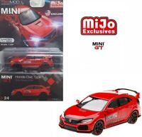 TSM 1:64 MINI GT Honda Civic Type R FK8 LHD Model Time Attack 2018 Red MGT00024