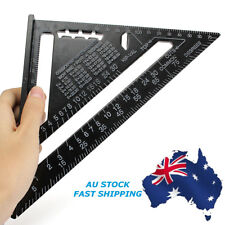 7inch Black Roofing Triangle Ruler Aluminum Alloy Speed Square Metric System