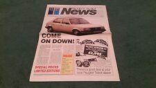 Aug 1985 PEUGEOT TALBOT NEWS UK BROCHURE Horizon Rapier Minx Samba 305 Express
