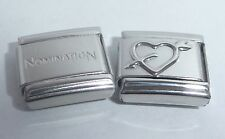 HEART & ARROW 9mm Italian Charm + 1x Genuine Nomination Classic link I Love you
