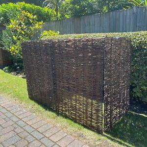 Garden Dustbin Wheelie Bin Store Storage Screen Tidy Hide Willow (Triple)