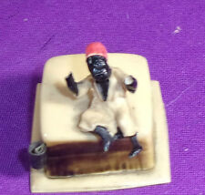 VINTAGE 1930S CELLULOID TAPE MEASURE BLACK AMERICANA CHILD W/ OPEN ARMS