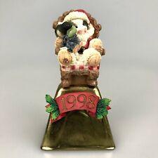 Cow Figurine Marys Moo Moos Christmas Collectible Bell Udderly Good Santa Boy