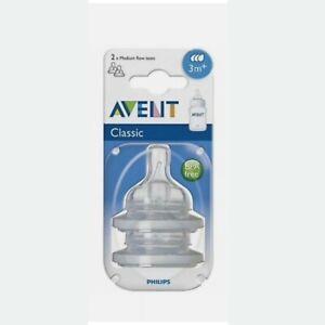 Philips Avent Classic Medium Flow Feeding Bottle Teats 3 months + plus