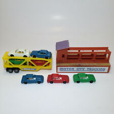 Tyco US 1 Trucking Motor City Trailer Complete w/ Cars & Trucking Piece