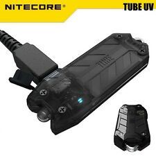 NiteCore TUBE UV 365nm 500mW Ultraviolet USB Rechargeable Keychain Flashlight