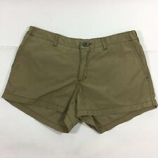 Abercrombie & Fitch Shorts Women Size 0 Khaki Flap Pockets T9995