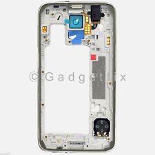 White Samsung Galaxy S5 G900A G900T G900V G900P Back Frame Camera Lens + Speaker