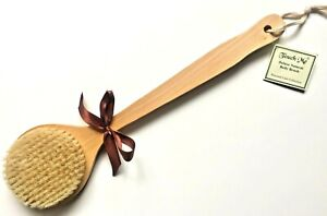 Touch Me ® 100% Natural Boar Bristle Long Handle Wooden Bath Dry Skin Body Brush