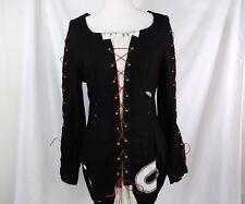 Dance in Paris, Black Faux Two Piece Tunic Dress Long Sleeve Festive-wear Size M