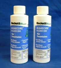 Beckett Algaecure Algaecide For Fountains *LOT OF 2-4OZ BOTTLES* (B5)
