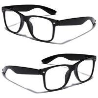 Non Prescription Kids Nerd Geek Costume Clear Lens Youth Teen Boys Girls Glasses