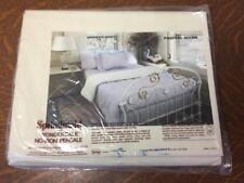 NOS Vtg SPRINGMAID WONDERCALE No-Iron Percale Twin Fitted Sheet Pinafore Solids