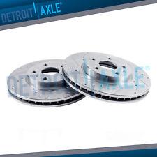 For 2012-2017 Hyundai Azera Front Rear eLine Plain Brake Rotors+Ceramic Pads