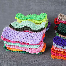 10 Baby Girls Toddler Crochet Hairband Elastic Headband Hair Head Band Newly