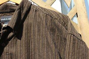 Vtg 90s Mens Corduroy Striped Brown Skate Hipster Style Large XLong Sleeve Shirt