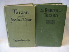 Edgar Rice Burroughs RETURN OF TARZAN & JEWELS OF OPAR hardcover books A L BURT