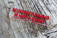 Scooter tunning is not a crime keychain custom porta-chaves Schlüsselanhänger