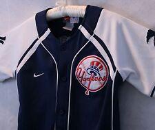 Team Genuine Merchandise Yankee Matsui Blue & White Shirt Jacket Youth Sz S EUC