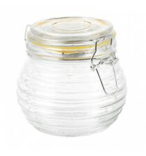 500ml Glass Storage Jar With Lid Air Tight Seal Metal Clamp Ring Design Chutney