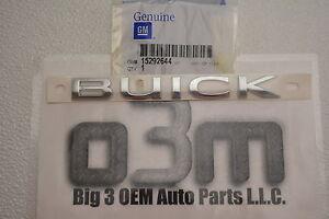 2008-2015 Buick Enclave Rear Lift Gate Chrome Nameplate Emblem new OEM 15292644