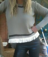 "Sass & Bide ""Fringe Freedom"" Knit Jumper Sweater sz S"