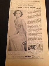 K3-3 Ephemera 1940 Picture Advert Lady Patricia French Ponds Pond's Lipstick
