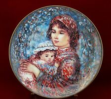 Edna Hibel Molly and Annie Collector Plate Serie Mother's Day 1992