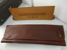 Portacravatte da viaggio GHERARDINI per due cravatte VERA PELLE-Tie rack leather