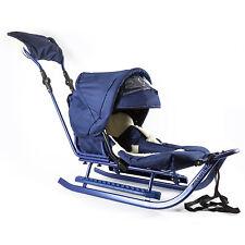 Schlitten Piccolino Komfort Granatblau Kinderschlitten Babyschlitten komplett