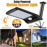 Solar PIR Motion Sensor Lights 36 LEDs Waterproof Outdoor Garden Yard Wall Lamps