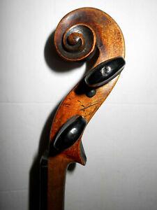 """Old Antique Vintage """"Schweitzer"""" 1 Pc. Back Full Size Violin -  No Reserve"""