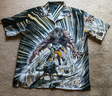 Men's CLAUDIO NUCCI BUTTON-UP Manga  Super Hero ANIME GRAPHIC SHIRT, L Russia