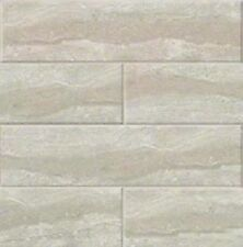 "GLOSSY GRIS TRAVERTINE Subway BULLNOSE Tile Ceramic 4"" X 16"" KITCHEN BATHROOM"