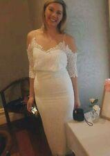 Dreamy White Boho Lace - Wedding Dress, Size 10