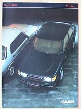 très rare Catalogue Saab 900 Turbo - Allemagne 1983 - 12 pages