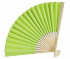 200 Lime Green Paper Hand Fans Wedding Bridal Shower Party Favors Q16680