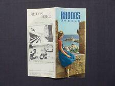 Reiseprospekt Hellas, Rhodos, Greece, Athen 1957, english