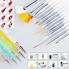 Fashion 20pcs Nail Art Decorations Brush Set Tools DIY Painting Pen Nail Tips