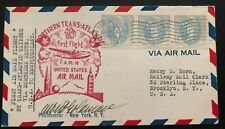 1939 New York USA First Flight Cover FFC To  Botwood Newfoundland Clipper