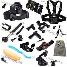 Gopro Accessories Kit Mount for Hero 4 3 3+ Black/Silver Camera 26 in 1 Bundle
